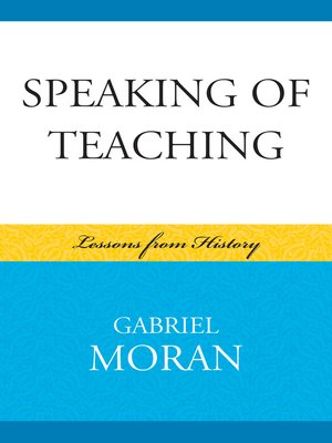 cover image of Speaking of Teaching