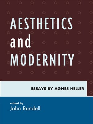 cover image of Aesthetics and Modernity