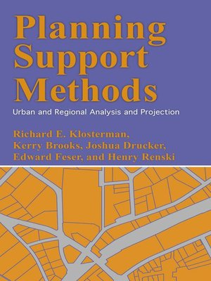 cover image of Planning Support Methods