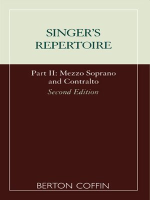 cover image of The Singer's Repertoire, Part II