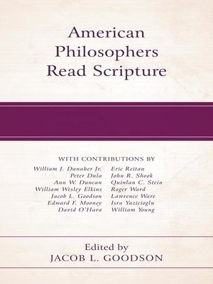 cover image of American Philosophers Read Scripture