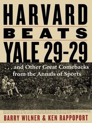cover image of Harvard Beats Yale 29-29