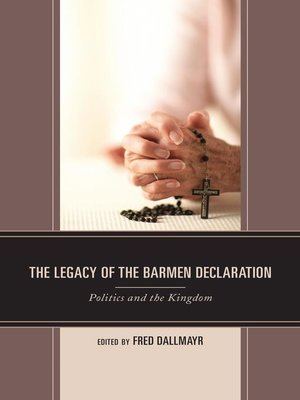 cover image of The Legacy of the Barmen Declaration
