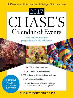 cover image of Chase's Calendar of Events 2017