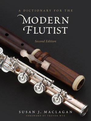 cover image of A Dictionary for the Modern Flutist