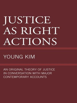 cover image of Justice as Right Actions