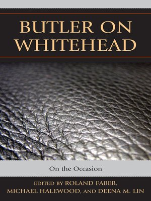 cover image of Butler on Whitehead