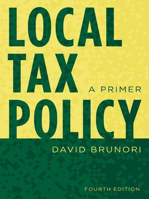 cover image of Local Tax Policy