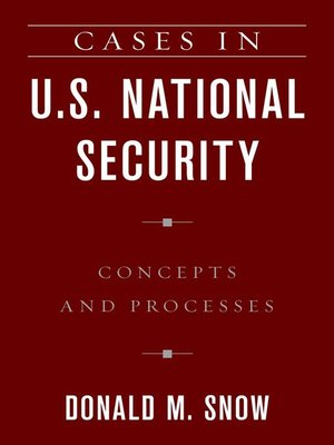 cover image of Cases in U.S. National Security