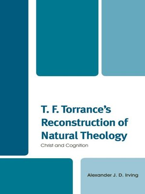 cover image of T. F. Torrance's Reconstruction of Natural Theology