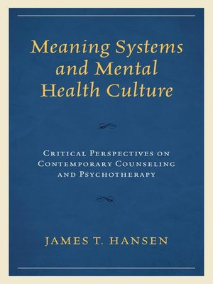 cover image of Meaning Systems and Mental Health Culture