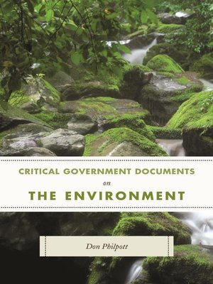 cover image of Critical Government Documents on the Environment
