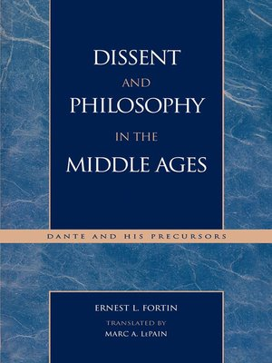 cover image of Dissent and Philosophy in the Middle Ages