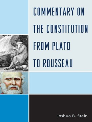 cover image of Commentary on the Constitution from Plato to Rousseau