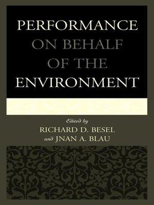 cover image of Performance on Behalf of the Environment
