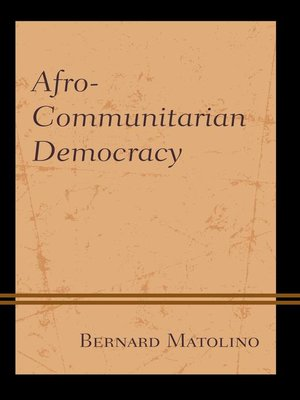cover image of Afro-Communitarian Democracy