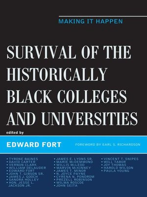 cover image of Survival of the Historically Black Colleges and Universities