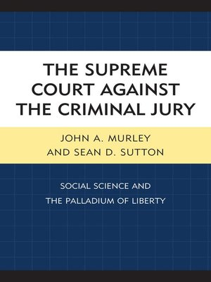 cover image of The Supreme Court against the Criminal Jury