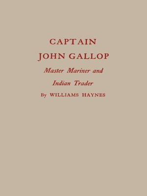 cover image of Captain John Gallop