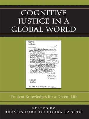 cover image of Cognitive Justice in a Global World