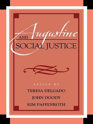 cover image of Augustine and Social Justice