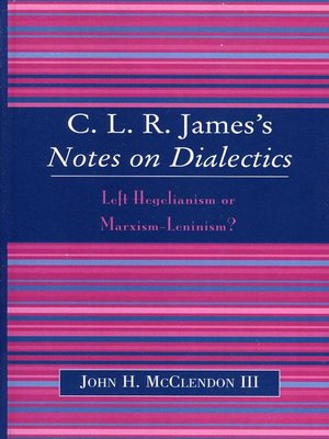 cover image of CLR James's Notes on Dialectics