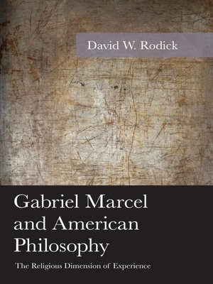 cover image of Gabriel Marcel and American Philosophy