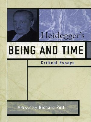 cover image of Heidegger's Being and Time