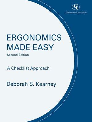 cover image of Ergonomics Made Easy