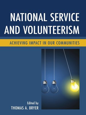 cover image of National Service and Volunteerism