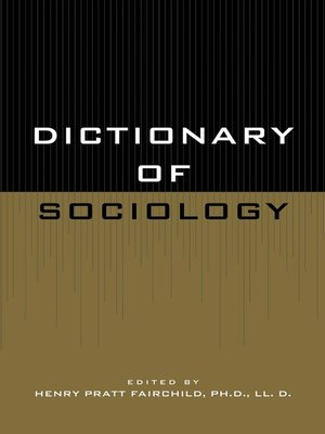 cover image of Dictionary of Sociology