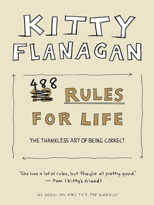 cover image of Kitty Flanagan's 488 Rules for Life