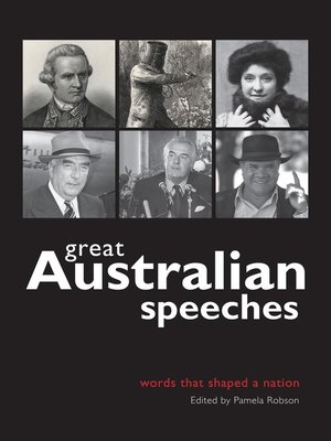 cover image of Great Australian Speeches