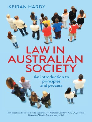 cover image of Law in Australian Society