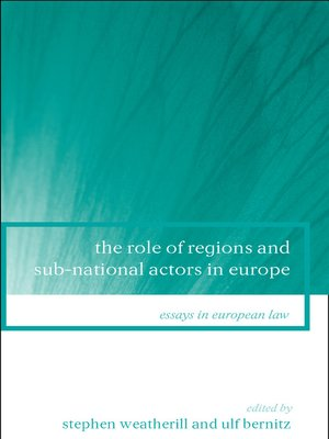 cover image of The Role of Regions and Sub-National Actors in Europe