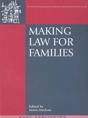 cover image of Making Law for Families