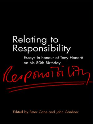 cover image of Relating to Responsibility