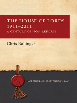 cover image of The House of Lords 1911-2011