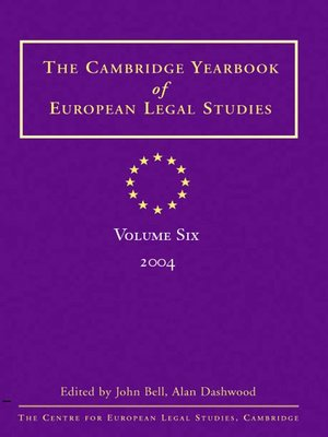 cover image of The Cambridge Yearbook of European Legal Studies, Volume 6