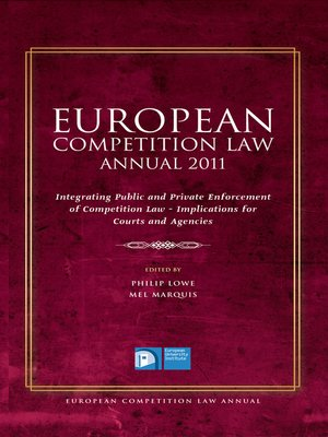 cover image of European Competition Law Annual 2011