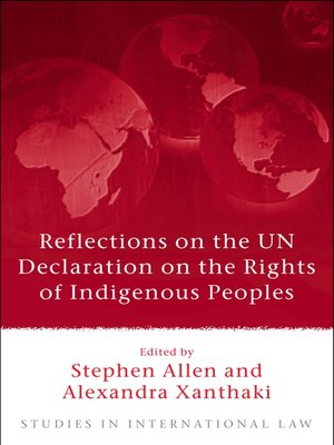 cover image of Reflections on the UN Declaration on the Rights of Indigenous Peoples