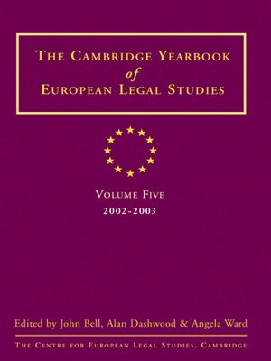 cover image of The Cambridge Yearbook of European Legal Studies, Volume 5