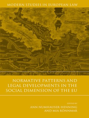 cover image of Normative Patterns and Legal Developments in the Social Dimension of the EU