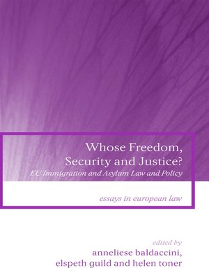 cover image of Whose Freedom, Security and Justice?