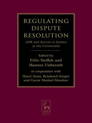 cover image of Regulating Dispute Resolution