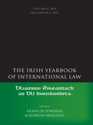 cover image of The Irish Yearbook of International Law, Volume 6, 2011