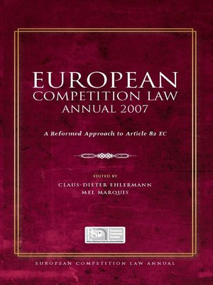 cover image of European Competition Law Annual 2007
