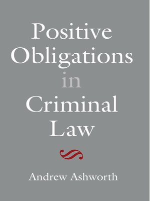 cover image of Positive Obligations in Criminal Law