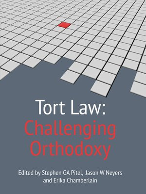 cover image of Tort Law