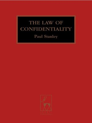 cover image of The Law of Confidentiality